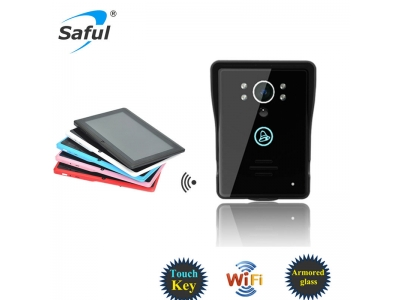 saful TS-IWP708 wifi video door phone + tablet WIFI Wireless Visual Intercom Smart Doorbell for Smartphones and Tablets