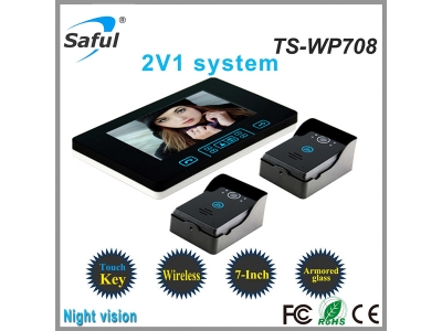 Saful TS-WP708 2V1 Wireless Video Door Phone  Door Phone Video Surveillance System Home Security Camera Monitor