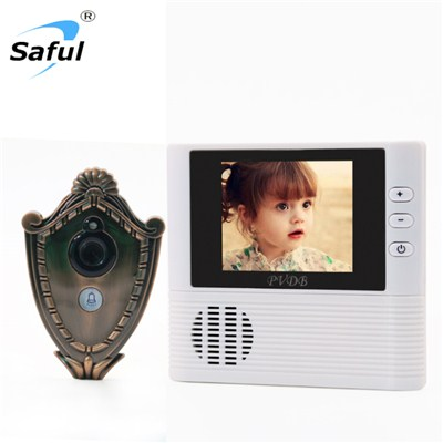 TS-YP3507B Digital Peephole Door Viewer Doorbell Doorphone Anti-theft Alarm Video Night Vision (Peltate)