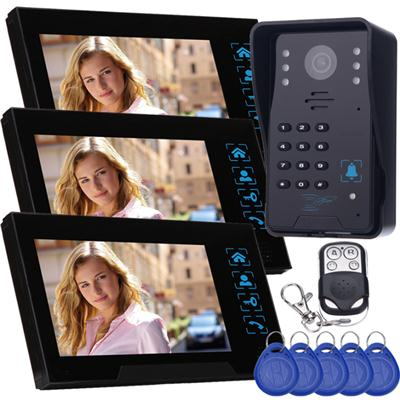 TS-806MJIDSNRED13 Recording Video Door Phone With Keyfobs