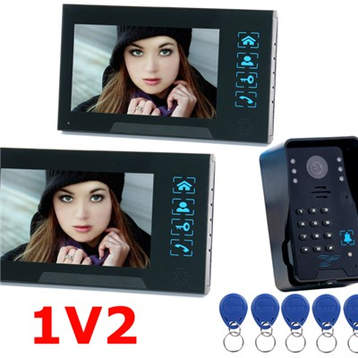 TS-806MJIDSN12 7inch Color LCD Screen Wired Video Intercom With Door Access Control System