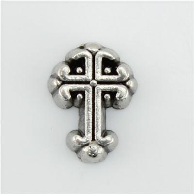 Silver Vintage Cross Floating Charm