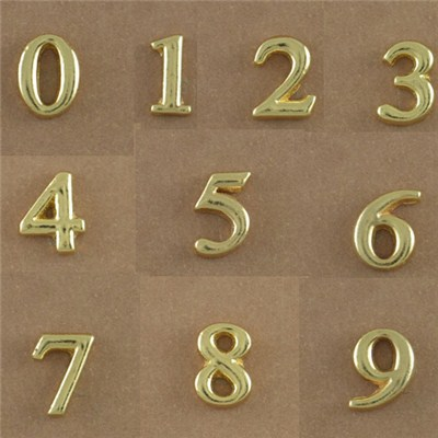 Gold Numbers Floating Charms