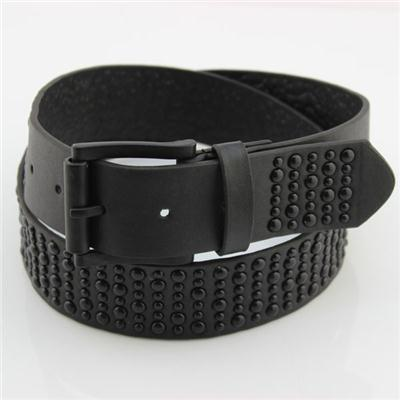 Black Studs PU Belt
