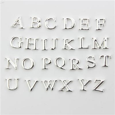 Silver Alphabet Letters Floating Charms