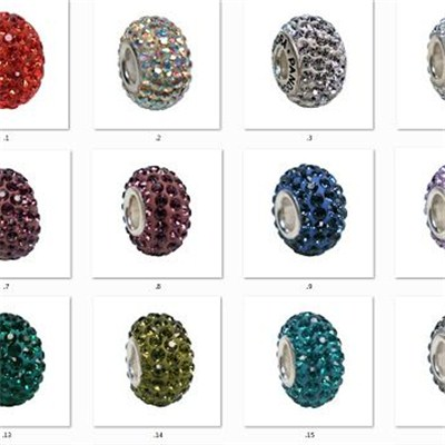 2015 Latest Rhinestone Big Hole Beads For Bracelet Accessories