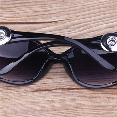 Antique Black Snap Button Sunglasses