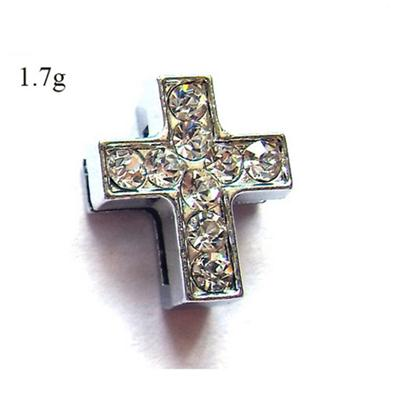 10mm Cross Slide Charms With Crystals
