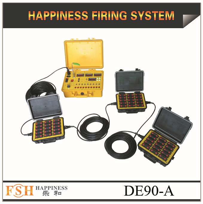 liuyang happiness fireworks firing system,Waterproof case, 90 channels wire control with sequential fire fireworks firing system