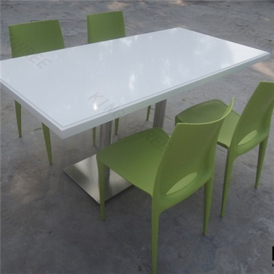 Customized Artificial Marble Chairs And Tables For Cafe