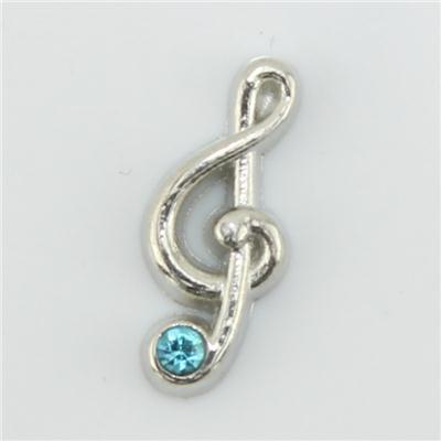 Silver Music Notes Floating Charm