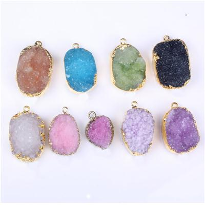 Electroplated Drusy Druzy Jewelry Pendant