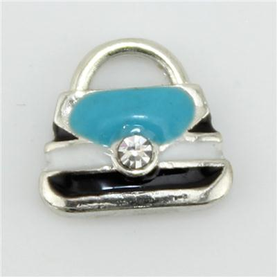 Aqua Handbag Floating Charm