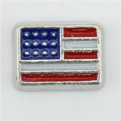 American Flag Floating Charm