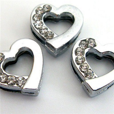 8mm Heart Slide Charms DIY For Love
