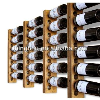 12 Bottles Wood Wall Mounted Wine Rack Holder MH-MR-15035