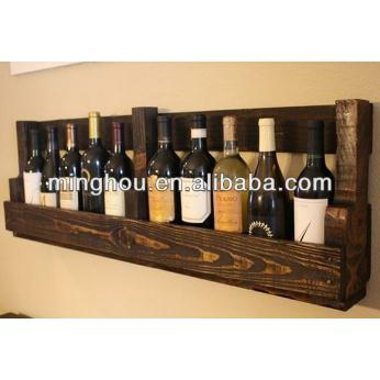 Wooden Wall Mounted Wine Bottle Storage Shelf MH-MR-15034