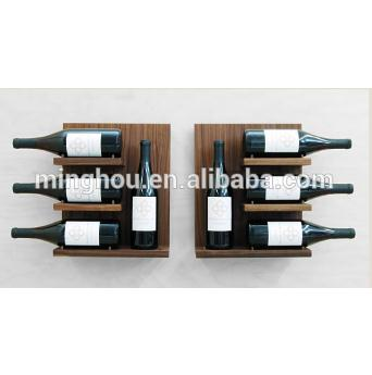 Factory Wood Wall Mounted Wine Rack With Glass Holder MH-MR-15033