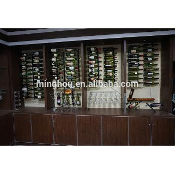 Practical Metal Wall Mounted Wine Display Rack For 9 Bottle MH-MR-15019