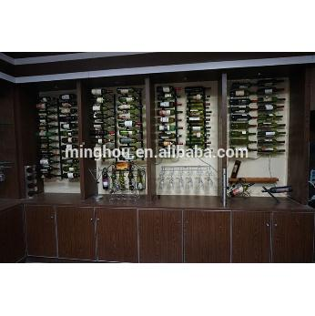 24 Bottle Metal Wall Mounted Hanging Display Holder Stand With Chrome Plated MH-MR-15015