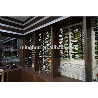 9 Bottle Metal Wall Mounted Hanging Wine Rack, Iron Wine Rack With Chrome Plated MH-MR-15014