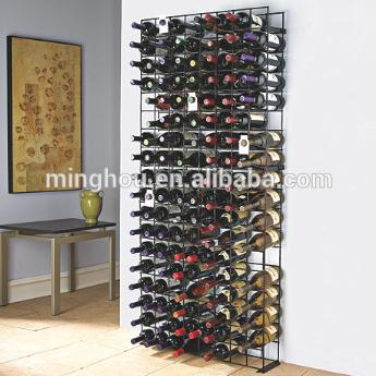 Large Capacity Metal Wall Mounted Wine Bottle Storage Rack MH-MR-15009