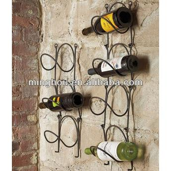 Metal Wall Mounted Link Holder 1-7 Bottles Racks MH-MR-15021