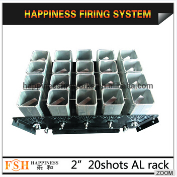 2 20 iron base, aluminum tubes display racks, for fireworks display, 2 mortars tubes display