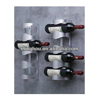 4 Bottle Modern Wall Mounted Stainless Steel Wine Rack MH-MR-15028