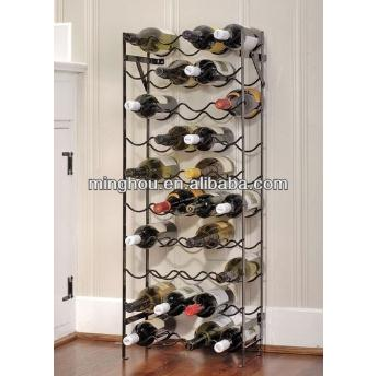 40 Bottle Waved Metal Wine Display Racks MH-MR-15024