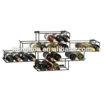 Best Price Decorative Metal Wine Racks Wall Mounted Wine And Beer Holders MH-MR-15010