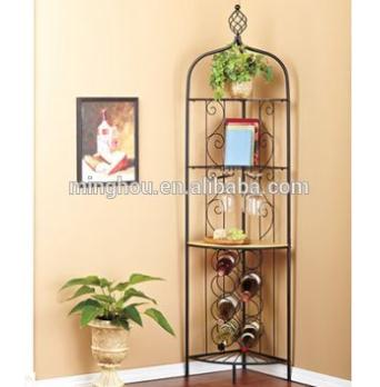 Tall Metal Wall Mounted Wine Racks Wine Storage Stand MH-MR-15007