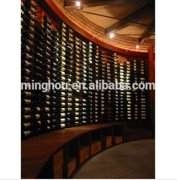 Wine cellar design commerical metal wall mounted wine rack MH-MR-15003