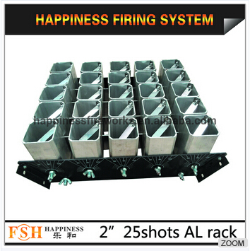 2 25 shots aluminium alloy for christmas show, fireworks display rack, mortar rack
