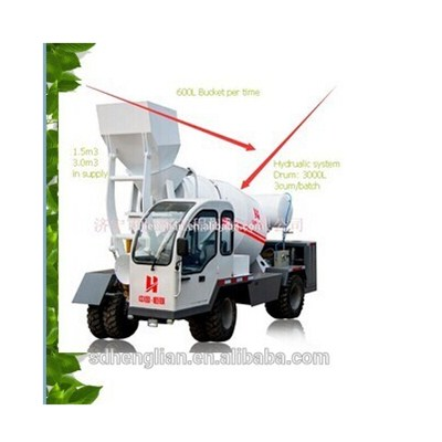 Mobile Concrete Mixer With Digital Weighting System