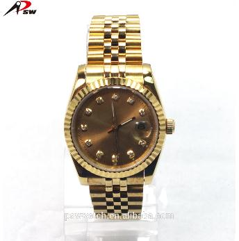 Mens Stainless Steel Quartz Goldlis