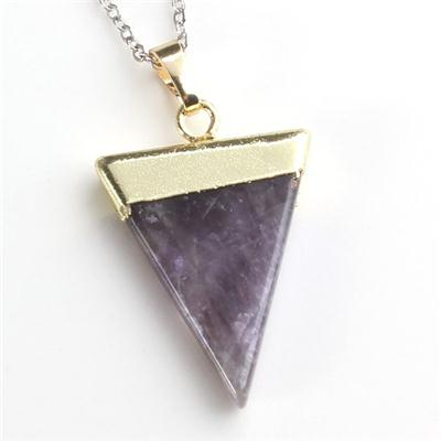 2015 Fashion Jewelry Purple Quarts Pendant Of China Wholesale