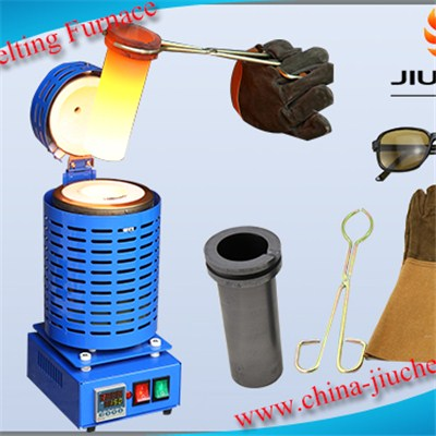 Mini 1-3kg Blue Gold Melting Furnace for Sale Jewelry tools and Equipment Gold Making Machine