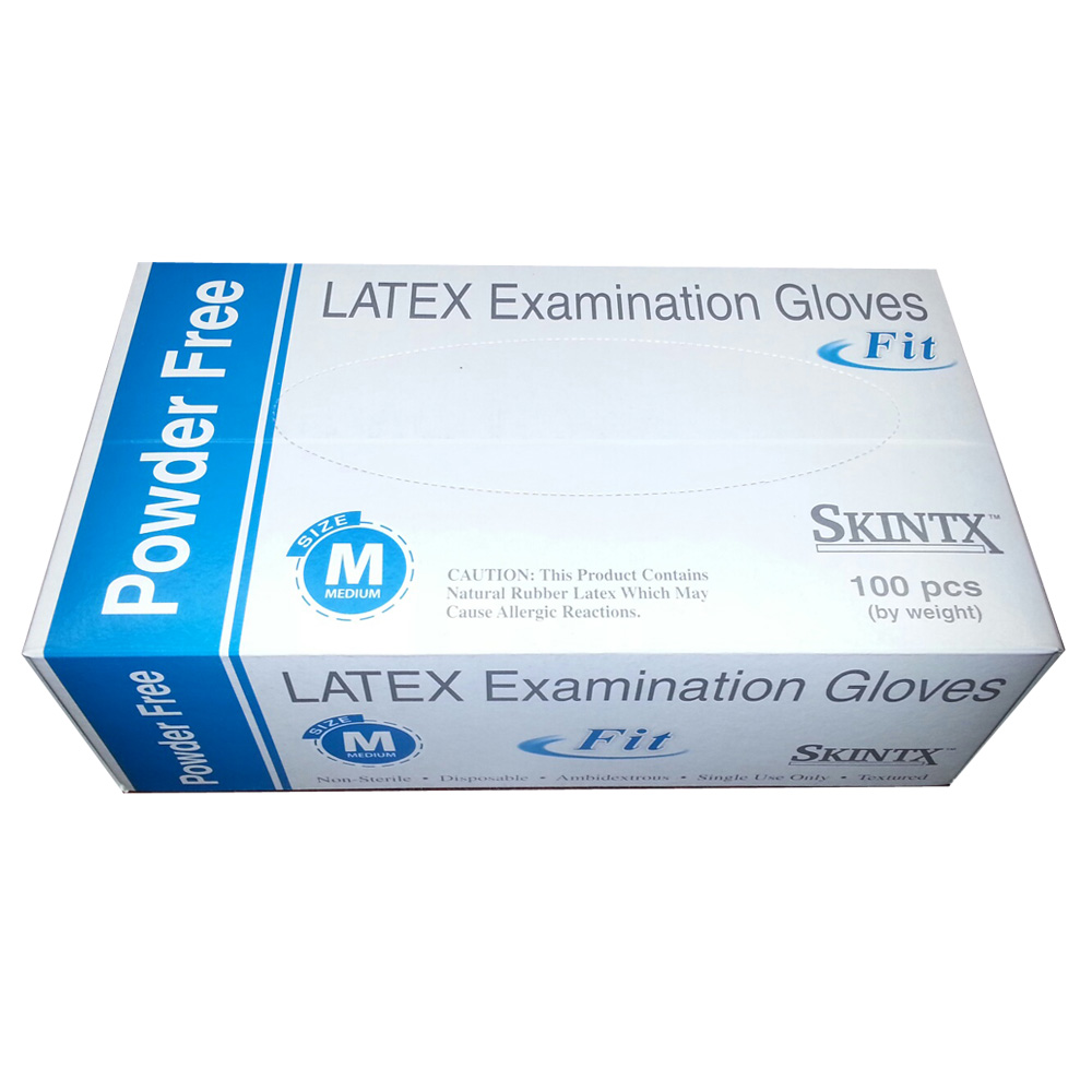 Latex Powder-Free Exam Gloves Fit - Box