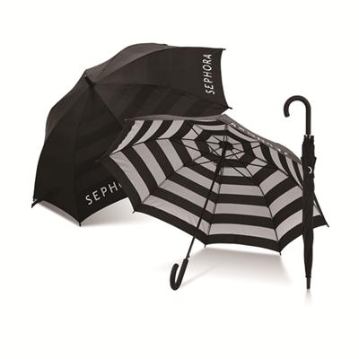 Black And White Straight Umbrella