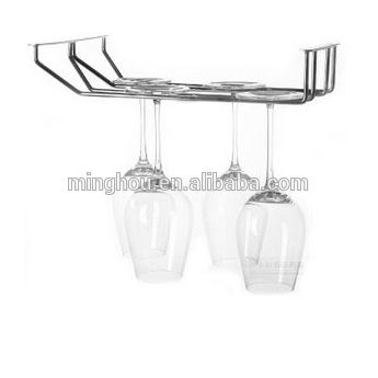 Elegant Double Rows Metal Hanging Wine Racks MH-GR-15008