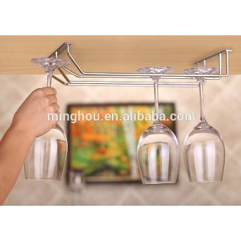 Double Rows Stainless Steel Hanging Wine Glass Rack MH-GR-15011