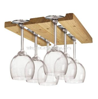 Hardwood Wine Glass Under Cabinet Hanging Rack MH-GR-15017