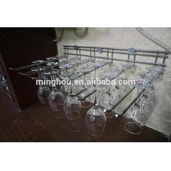 6 Slot Stainless Steel Wine Glass Hanging Rack Holder MH-GR-15024