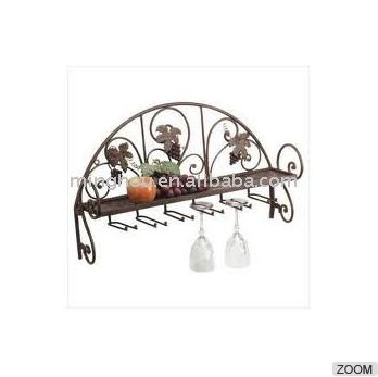 6 Row Metal Wine Glass Rack,glass Washing Rack,hanging Wine Glass Racks MH-GR-15029