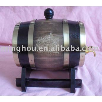 1.5l Oak Port Barrel With Wood Stand MH-WB-15007