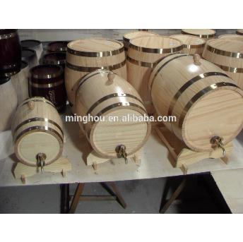 2l/3l/5l Red Wine Storage Wooden Wine Barrel With Metal Tap MH-WB-15009