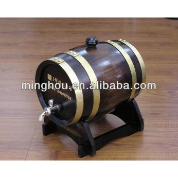 2l/3l/5l/10l Antique Oak Wine Barrel With Brass Tap MH-WB-15012