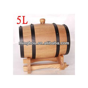 5l Oak Wine Barrel, Port Barrel, Barrel Stand MH-WB-15014