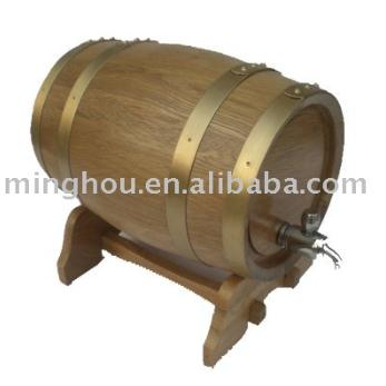 5l Oak Wood Wine Barrel With Brass Tap MH-WB-15015